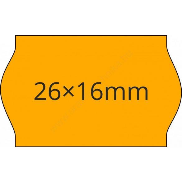 26x16mm FLUO narancs ORIGINAL árazócímke (1.000db/tek)