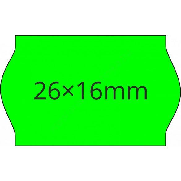26x16mm FLUO zöld ORIGINAL árazócímke (1.000db/tek)