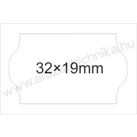 32x19mm fehér kétsoros árazógépszalag