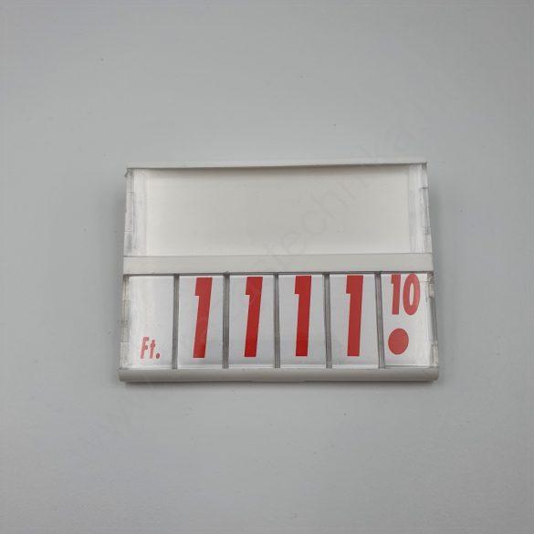 Árkazetta 74×51mm fehér-piros