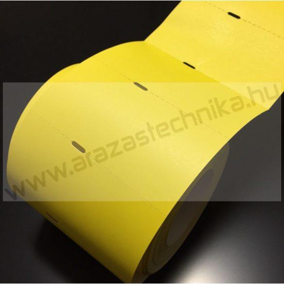 Polccímke 80×40 mm THERMO - citrom (500db/tek)