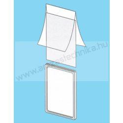 Plakátkeret fólia A4 PVC átlátszó