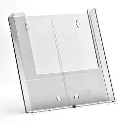 Prospektustartó A4 plexi fali-asztali