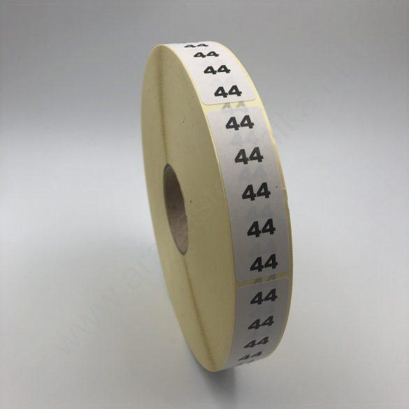 Méretjelző 20×60 mm öntapaó címke  34 - 56