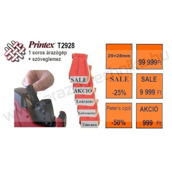 PRINTEX 3/1 T2928 árazógép MAXI 7 + szöveglemez