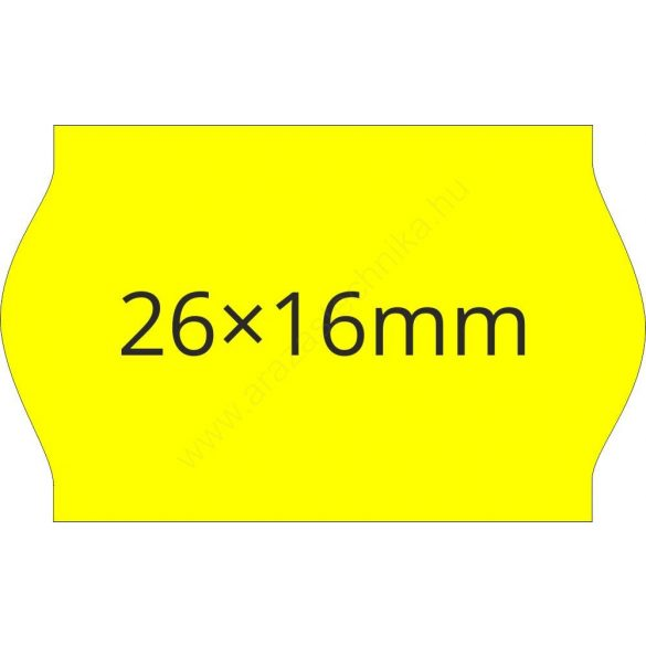 26x16mm FLUO citrom ORIGINAL árazócímke (1.000db/tek)