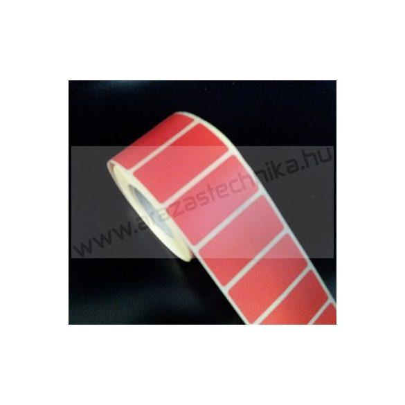 50x25mm THERMO címke - PIROS (2.000 db/40)