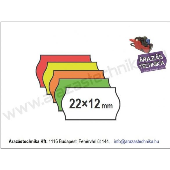 22x12mm erős 4+ ragasztó - eredeti OLASZ árazócímke (1400db/tek)
