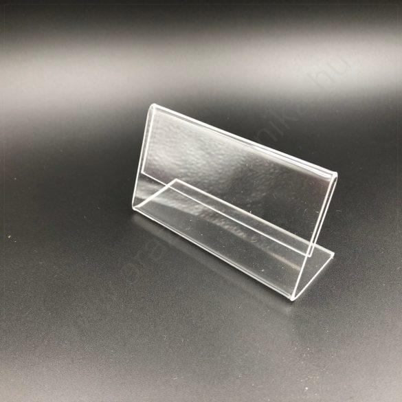 Árcímke tartó plexi 100 x 55 mm