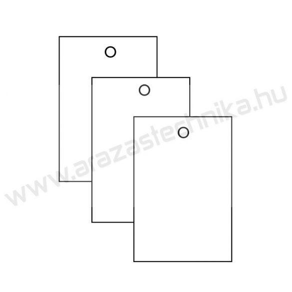 Függő címke 40×60mm FEHÉR 300g ofszet (200 db/csomag)