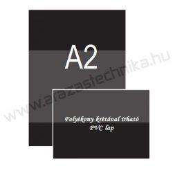 A2 fekete PVC lap (420×594mm) folyékony krétával írható
