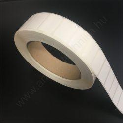 25x15 mm PE Gloss White - fehér műanyag címke
