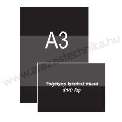 A3 fekete PVC lap (297×420mm) folyékony krétával írható