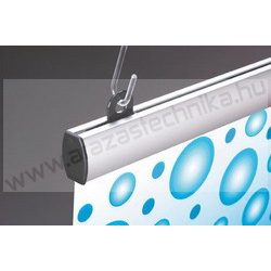 Posztertartó, alumínium kipattintható plakátsín  70 cm