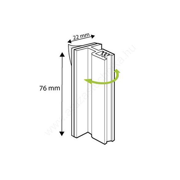 Gripper flexibilis táblatartó 76×22mm (2-3mm befogadó)