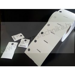 Függő etikett PVC 50x40 mm - időjárásálló etikett - nem öntapadós (10mm függesztő lyuk)