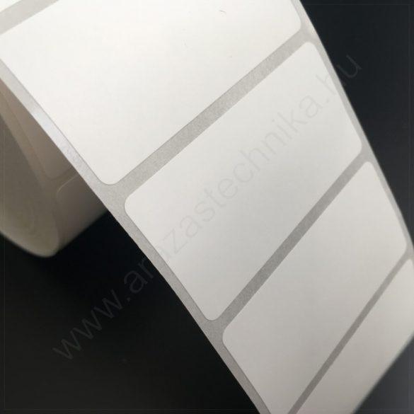 50×25 mm PP Matt WHITE (2.000db/tek) öntapadós címke