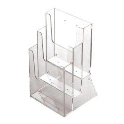 Prospektustartó A4 asztali - 3 rekesz