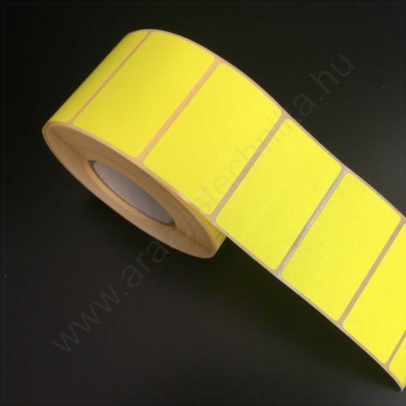 50x30 mm TT papír címke fluo CITROM (1.000db/40) REM. visszaszedhető