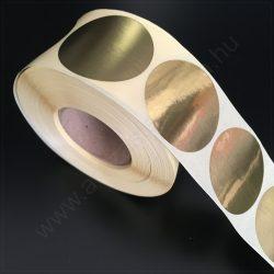40 mm ARANY papír körcímke  (1000 db/tek)