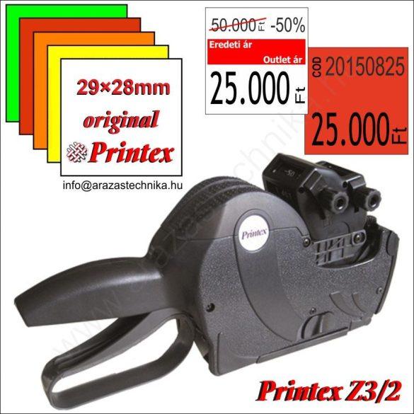 Printex 3/2 T2928 (12+7MAXI) kétsoros árazógép