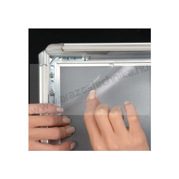 A1 Megállító tábla (32mm alu click keret) FÉM hátlap