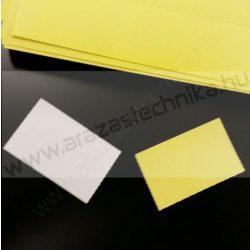 Inzert - Polccímke 65x38 mm (21db/A4) sárga/fehér