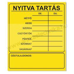 NYITVA TARTÁS matrica öntapadós (UV álló kültéri festék) - citrom