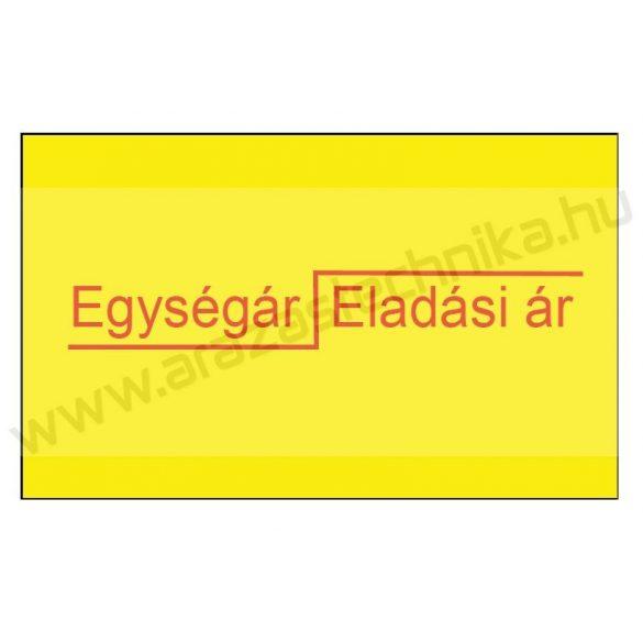 26x16mm Egység ár/Eladási ár ORIGINAL árazócímke - sárga szögletes