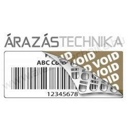 VOID 50x25mm (1.000db/40) biztonsági címke