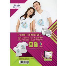 Világos pólóra vasalható fólia (Avery C9405-4HU)