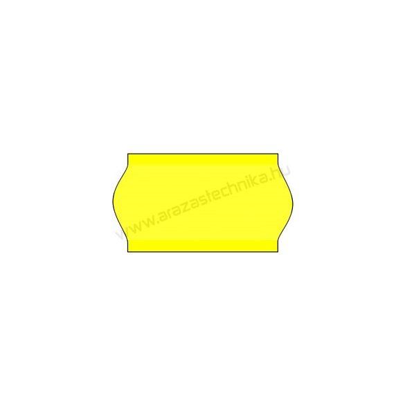 22x12mm árazócímke - FLUO citrom  - eredeti OLASZ (1400db/tek)