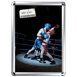 A4 alumínium plakátkeret  (25mm profil) kerekített sarok