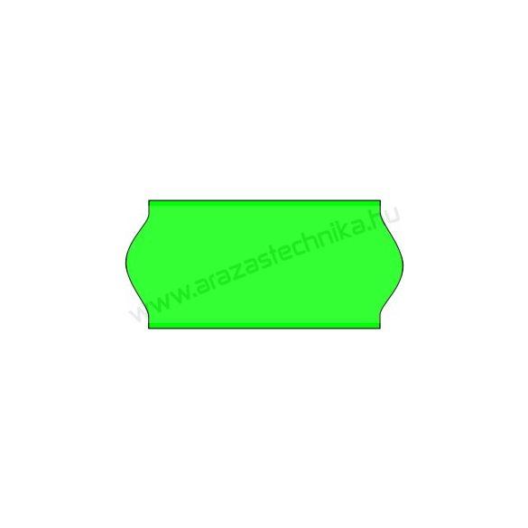 26x12mm eredeti OLASZ FLUO zöld árazószalag