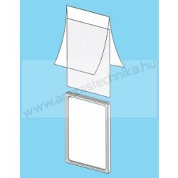 Plakátkeret fólia A2 PVC átlátszó