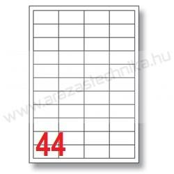 48,5×25,4mm 44 db/ív Rayfilm íves etikett címke [0203A]