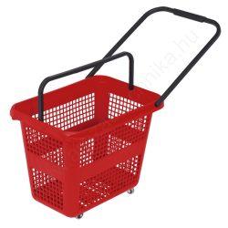 54 literes gurulós bevásárló kosár - piros