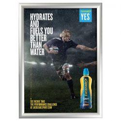 A4 alumínium plakátkeret  [25mm profil] - szögletes sarok