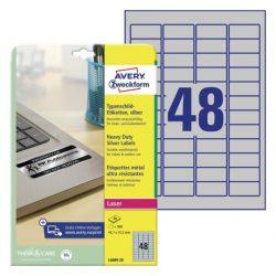 45,7x21,2mm ipari ezüst poliészter címke (Avery L6009-20)