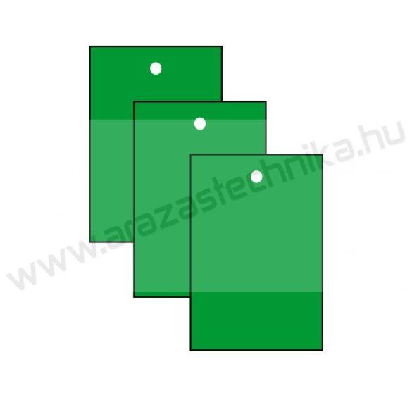 Függő címke 40×60mm ZÖLD (200 db/csom)