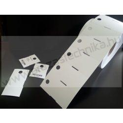 Függő etikett PVC 80×40mm - kültéri - nem öntapadós (870db/tek)
