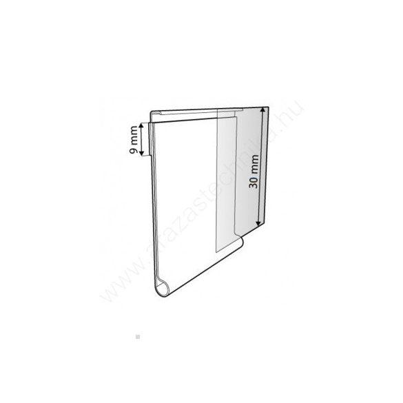Ársín 3cm × 1m átlátszó - filmragasztó