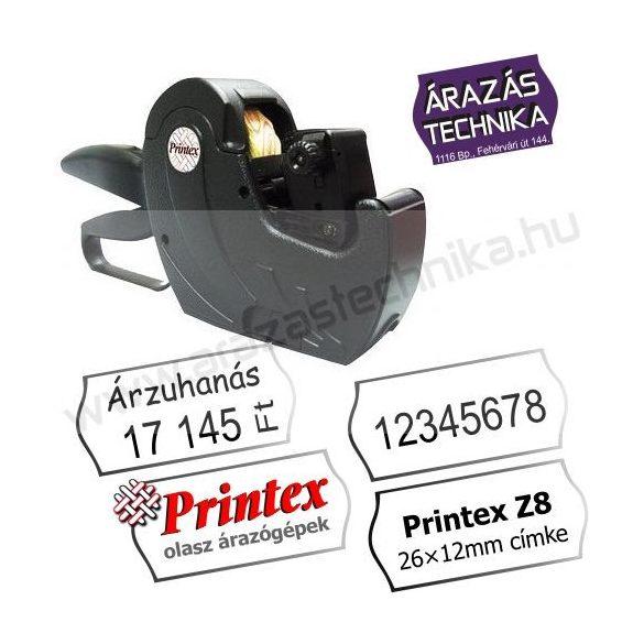 PRINTEX Z8 árazógép (8 karakter) 26×12mm címke