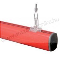 Függesztő alu cső SÍN - 2 méter - ezüst