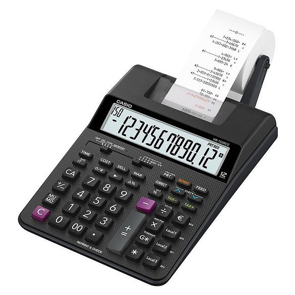Casio HR-150RCE 12 digit szalagos számológép