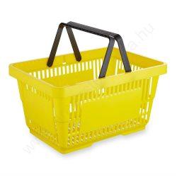 22 literes kézi bevásárló kosár - sárga