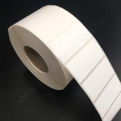 40x25 mm PP Gloss WHITE címke