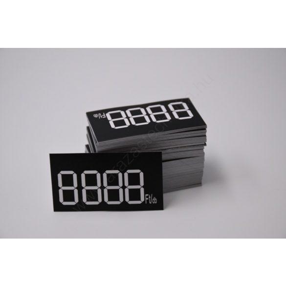 Digitális etikett 50×28 mm FEKETE alap (200 db/cs)
