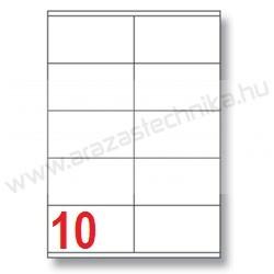 105×57 mm 10 db/ív Rayfilm íves etikett címke [0915A]