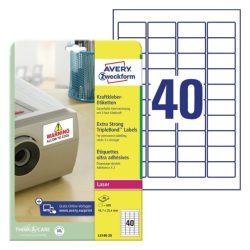 45,7x25,4mm PET címke 3x erősebb tapadás (Avery L6140-20)